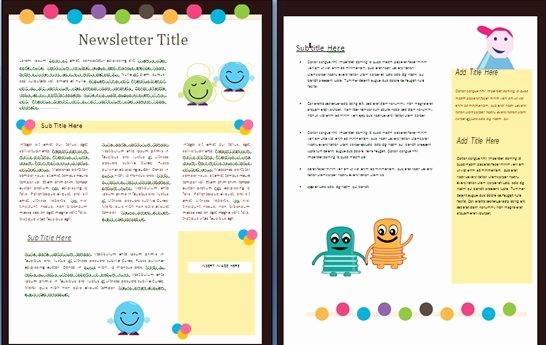 School Newsletter Templates Free Elegant Free Newsletter Templates