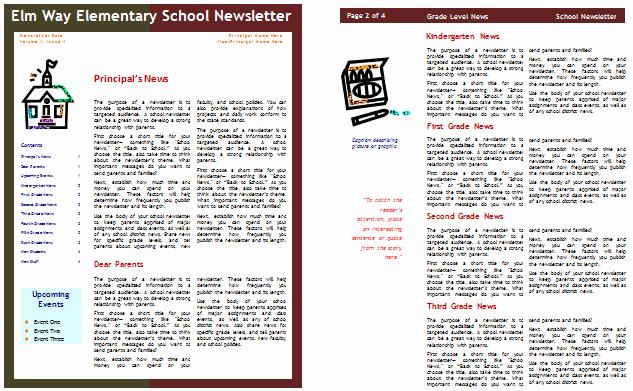 School Newsletter Templates Free Fresh School Newsletter Templates for Classroom and Parents