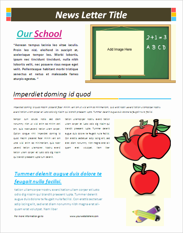 School Newsletter Templates Free Lovely 5 School Newsletter Templates Doc Pdf