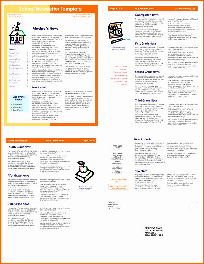 School Newsletter Templates Free Luxury 10 Classroom Newsletter Templates Free and Printable