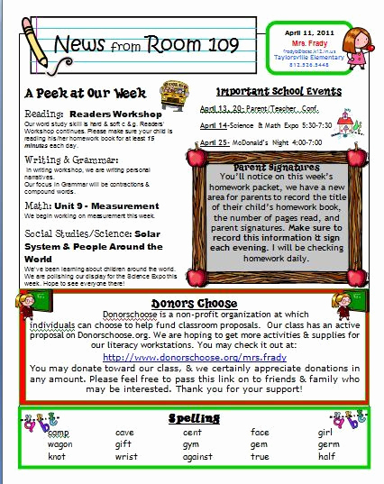 School Newsletter Templates Free Luxury Free Kindergarten Templates Downloads
