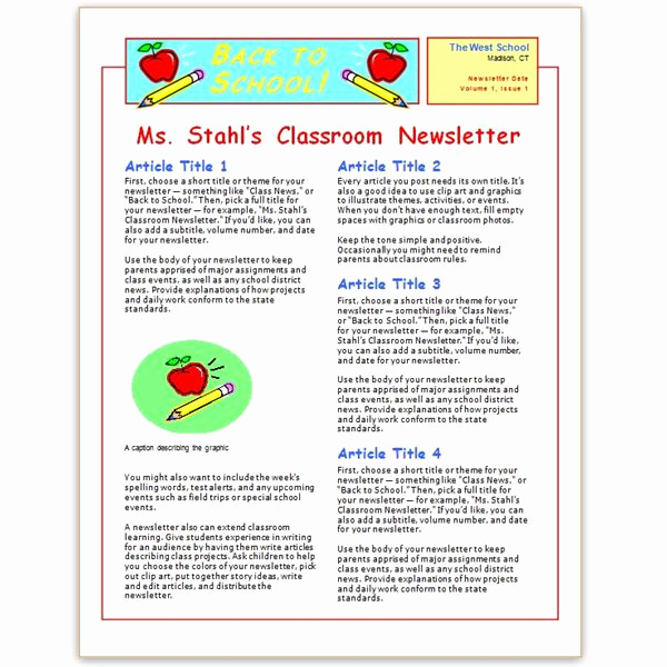 School Newsletter Templates Free Luxury where to Find Free Church Newsletters Templates for