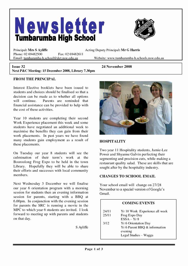 School Newsletter Templates Free New 17 Best Ideas About School Newsletter Template On