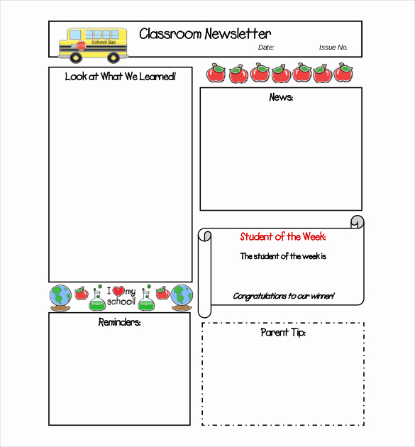 School Newsletter Templates Free New 8 Free Newsletter Templates Free Word Pdf Documents