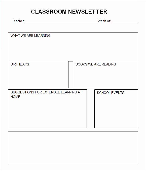 School Newsletter Templates Free New Classroom Newsletter Template 7 Free Download for Pdf Word