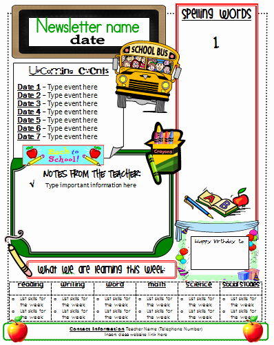 School Newsletter Templates Free New Ginger Snaps Newsletter Template