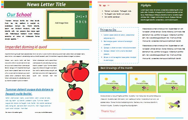 School Newsletter Templates Free Unique School Newsletter Templates for Classroom and Parents