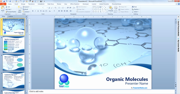 Science Power Point Template Awesome Free Scientific Powerpoint Template
