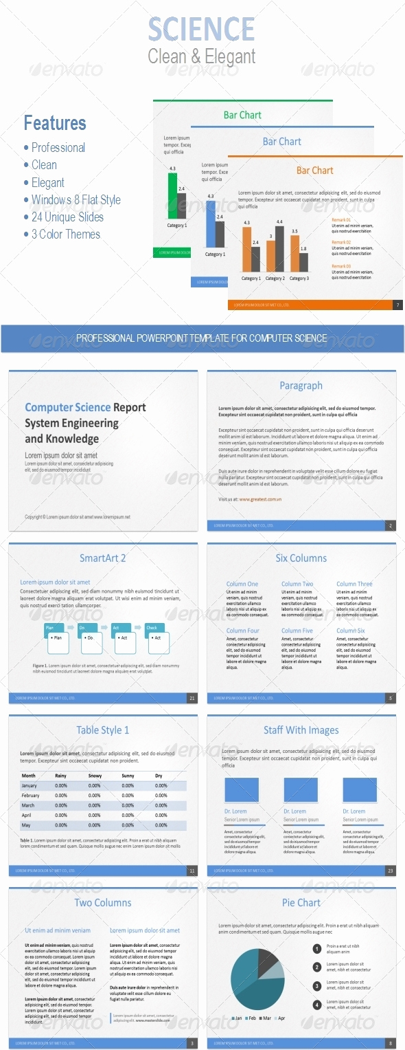 Science Power Point Template Luxury Powerpoint Template for Puter Science
