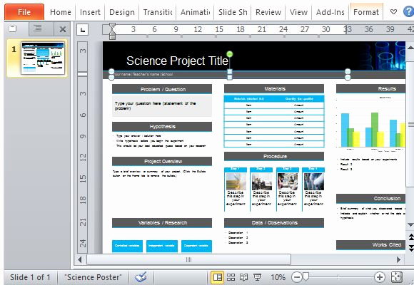 Science Power Point Templates Beautiful Science Poster Project Template for Powerpoint