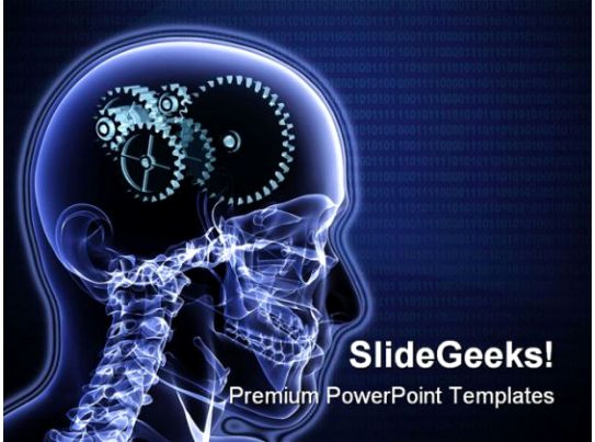 Science Power Point Templates Luxury Brain Gears Science Powerpoint Template 0610