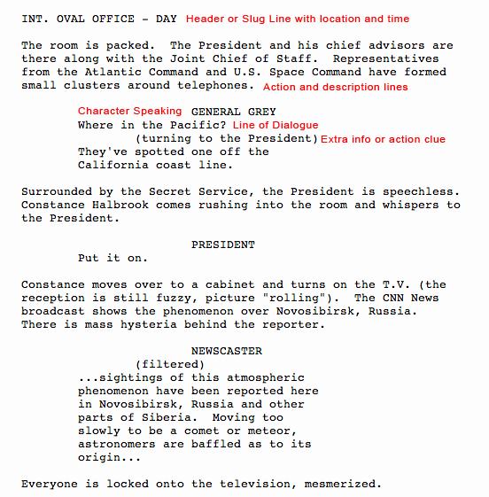 Script Writing format Pdf Best Of Screenplay format