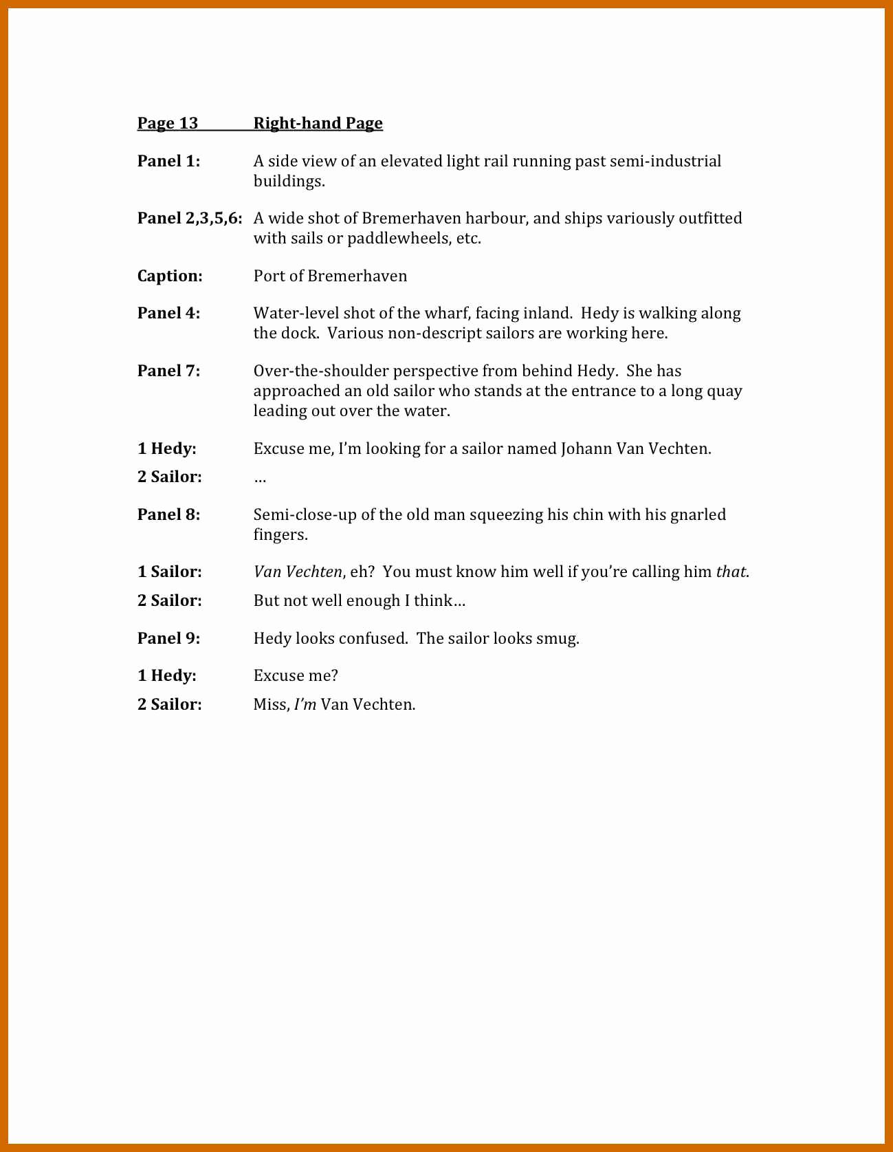Script Writing format Pdf Inspirational 5 6 Script Writing Examples