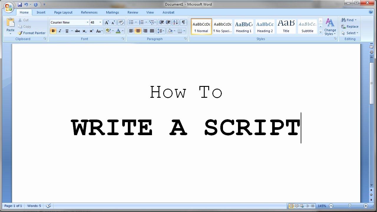 Script Writing format Pdf Inspirational How to Write A Short Script