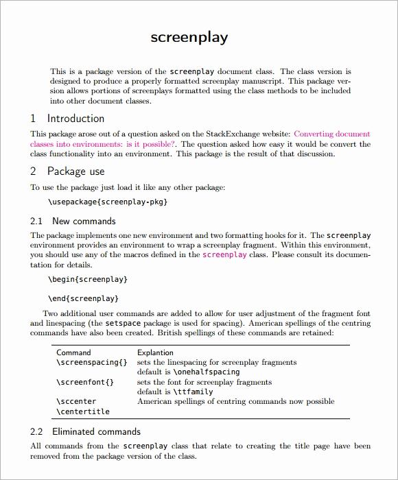 Script Writing format Pdf Luxury 6 Screenplay Samples