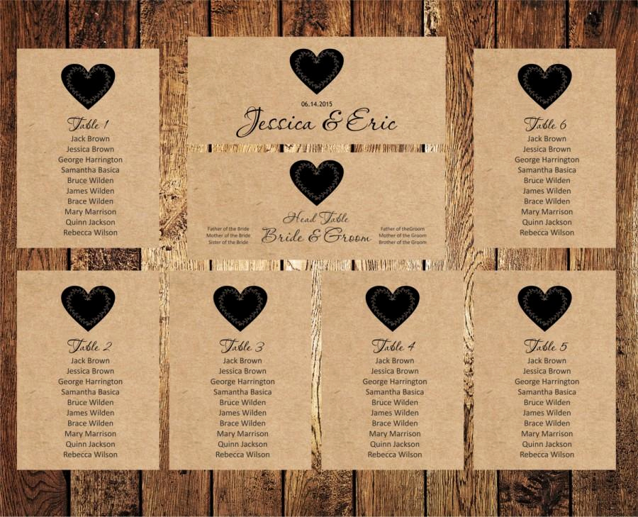 Seating Chart Template Wedding Best Of Wedding Seating Chart Editable Text Rustic Kraft Wedding