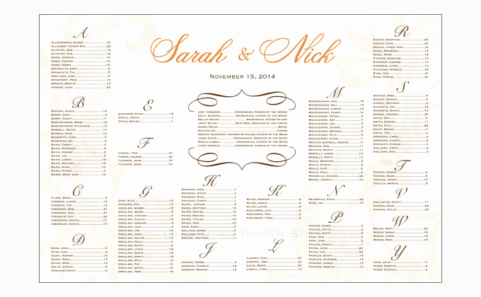 Seating Chart Template Wedding Inspirational Seating Chart Template