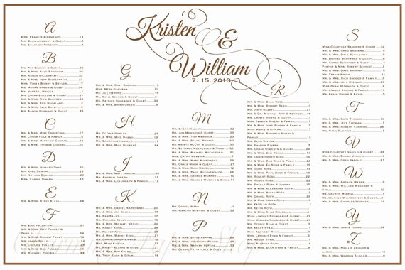 Seating Chart Template Wedding New Wedding Seating Chart Table Seating assignments Reception