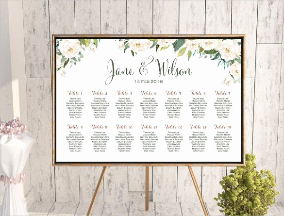 Seating Chart Template Wedding New Wedding Seating Chart Template 16 Examples In Pdf Word