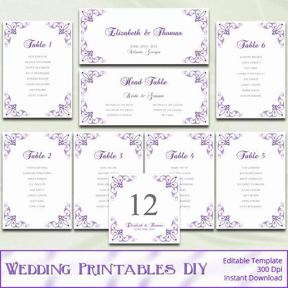 printable wedding seating chart template
