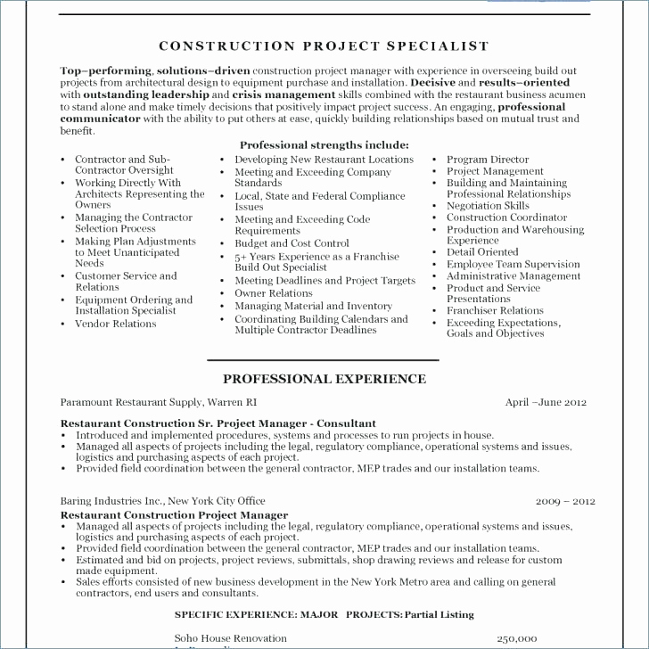 Senior Projects Manager Job Description Elegant Senior Project Manager Job Description Construction