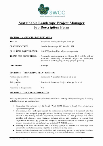Senior Projects Manager Job Description Fresh Job Application form Project Manager â Gomp Epco