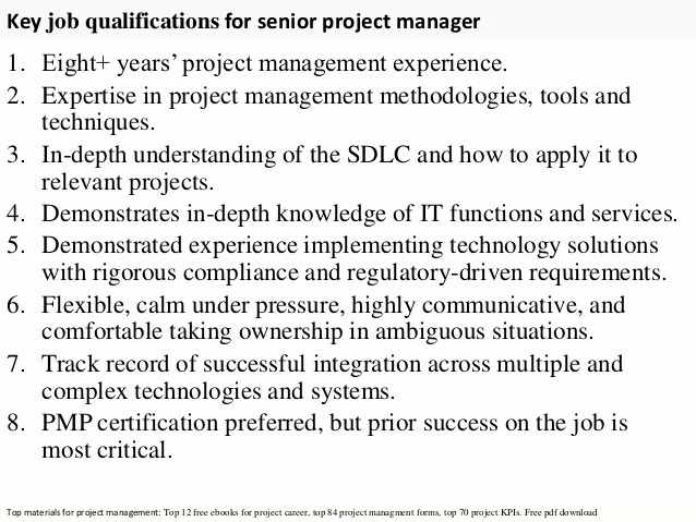 Senior Projects Manager Job Description New Senior Project Manager
