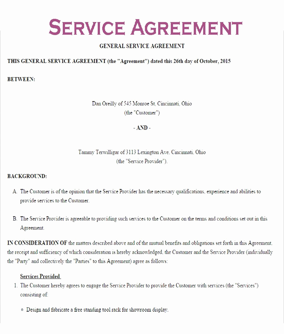 Service Contract Template Word Beautiful Service Contract Template Word Letter Examples Free Level