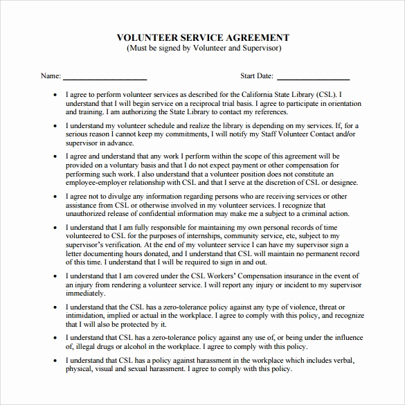 Service Contract Template Word Inspirational Sample Service Agreement Template 6 Free Documents