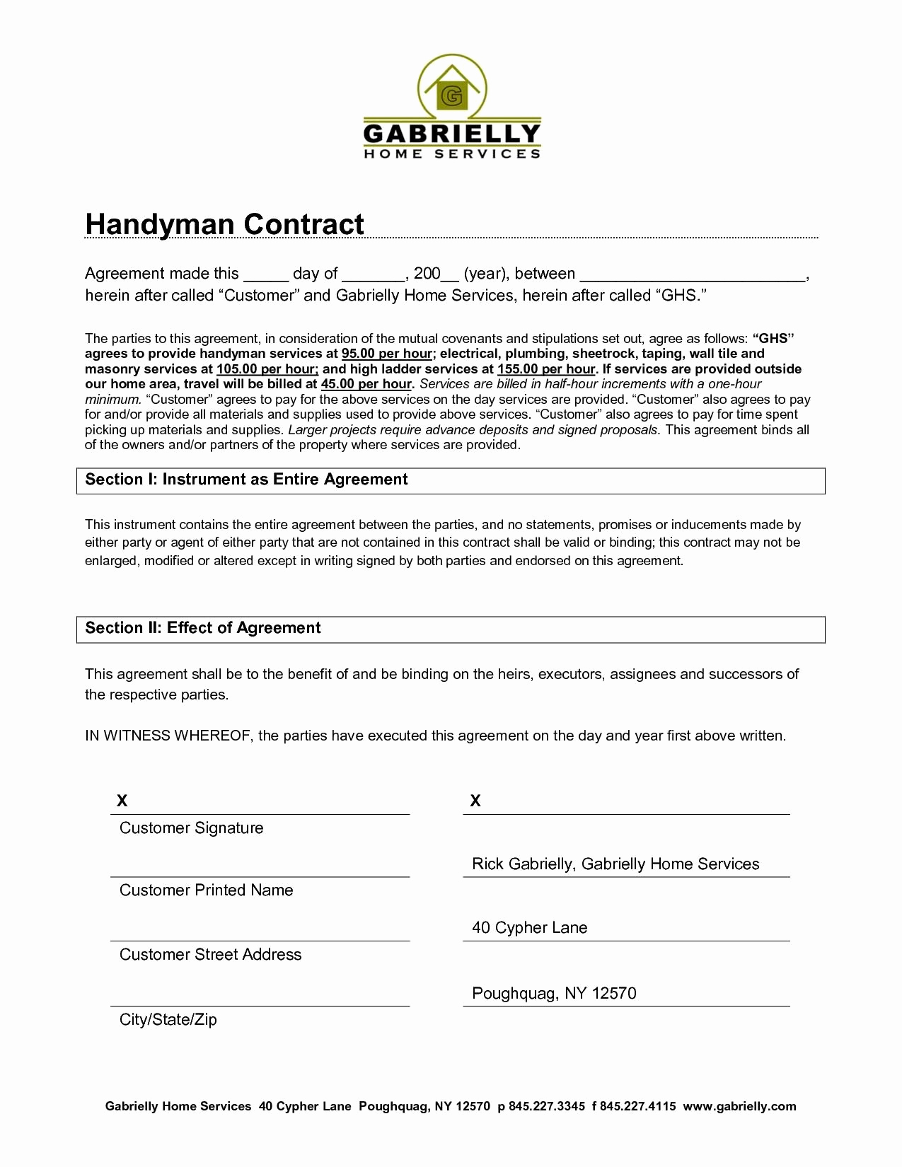 Service Contract Template Word New Basic Service Contract Mughals