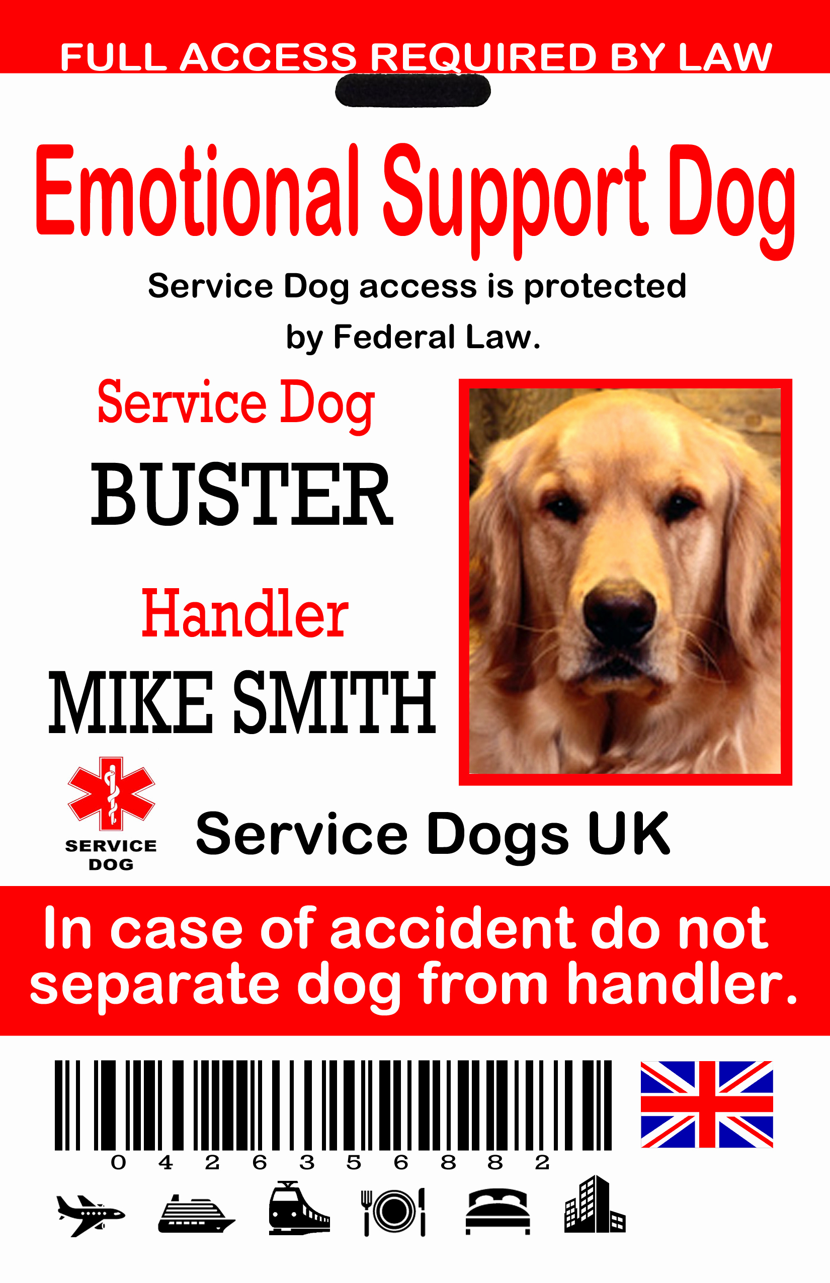 Service Dog Certificate Template Awesome Uk Service Dog Id Tags the Sewing Network