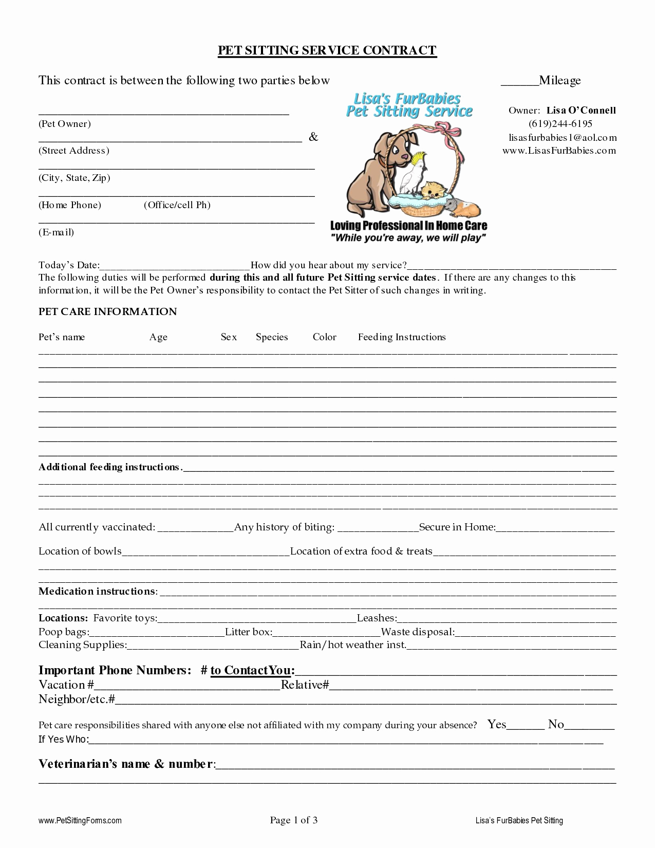 Service Dog Certificate Template Best Of Pet Sitting Contract Templates Dogs Pinterest