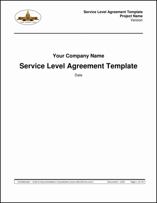 Service Level Agreement Examples Best Of Sdlcforms Service Level Agreement Template