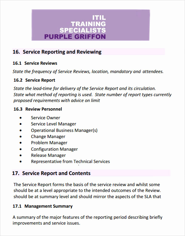 Service Level Agreement Examples Best Of Service Level Agreement 17 Download Free Documents In