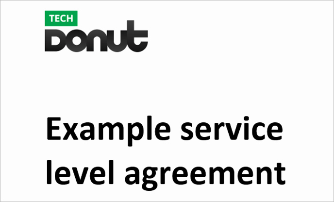 Service Level Agreement Examples Unique Sample Service Level Agreement