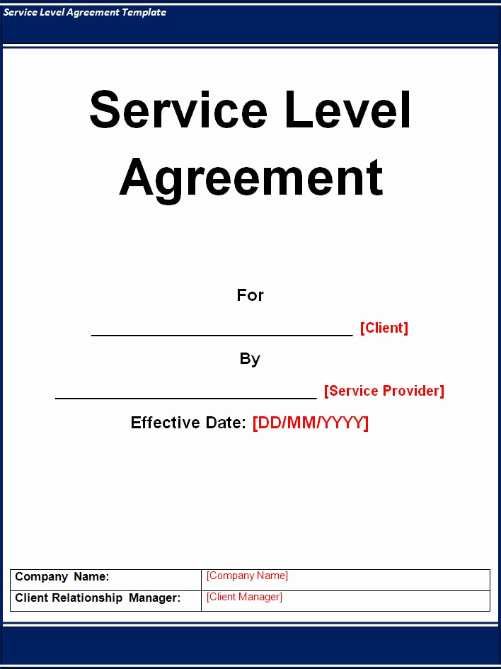 Service Level Agreement Examples Unique Service Level Agreement Template