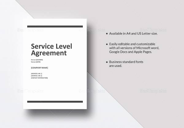 Service Level Agreement Template Awesome Service Level Agreement 17 Download Free Documents In