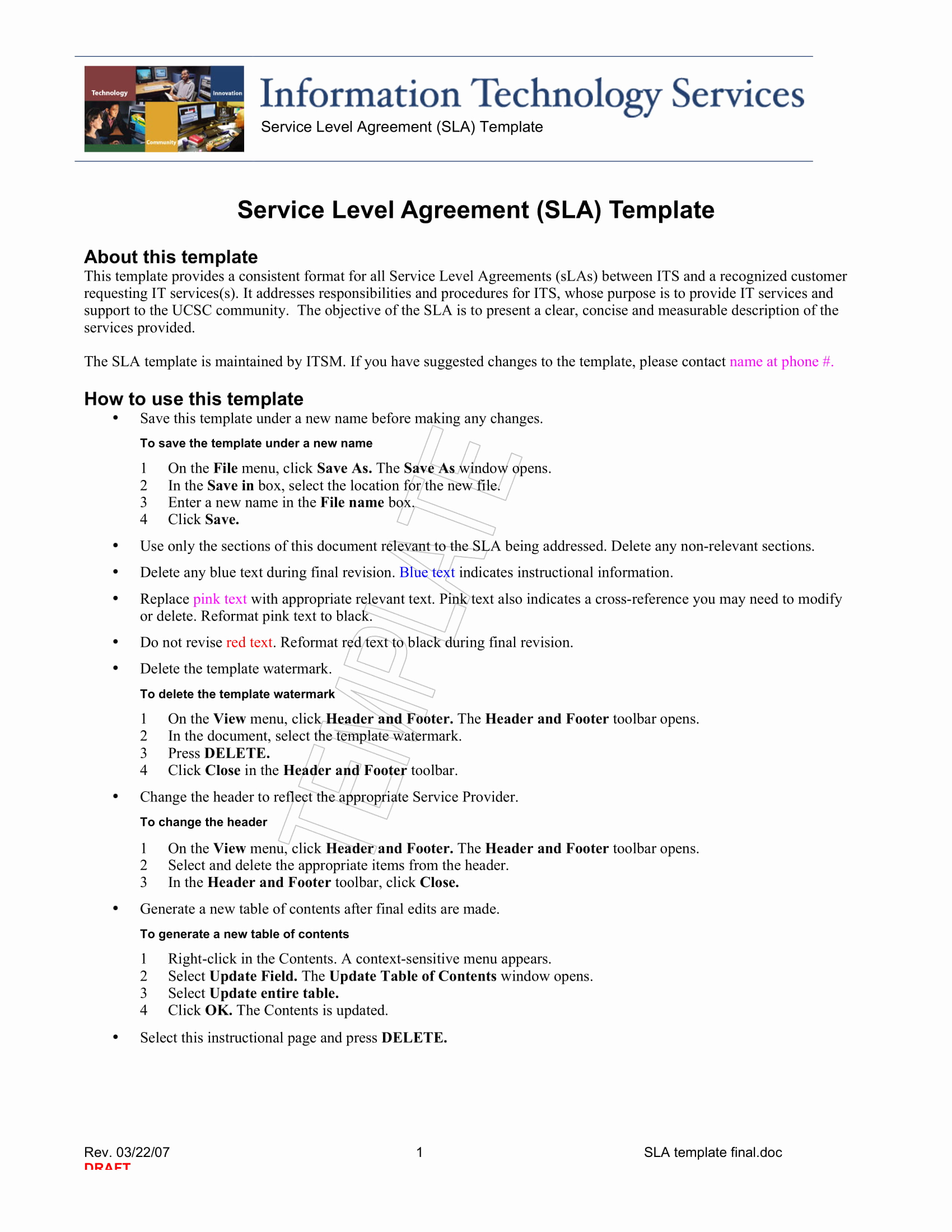 Service Level Agreement Template Beautiful 14 Service Level Agreement Examples Pdf Word