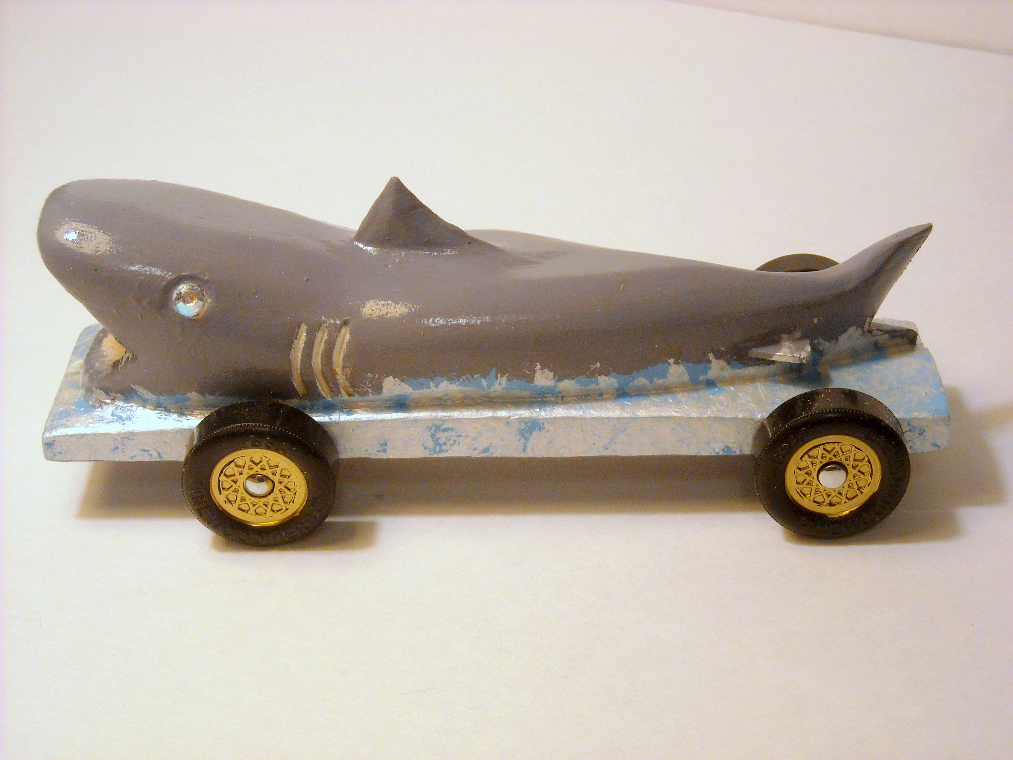 Shark Pinewood Derby Car Awesome Hand Carved Pinewood Derby Shark Car