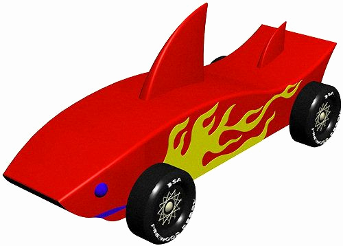 Shark Pinewood Derby Car Awesome Shark Instant Download Pinewood Derby Car Design