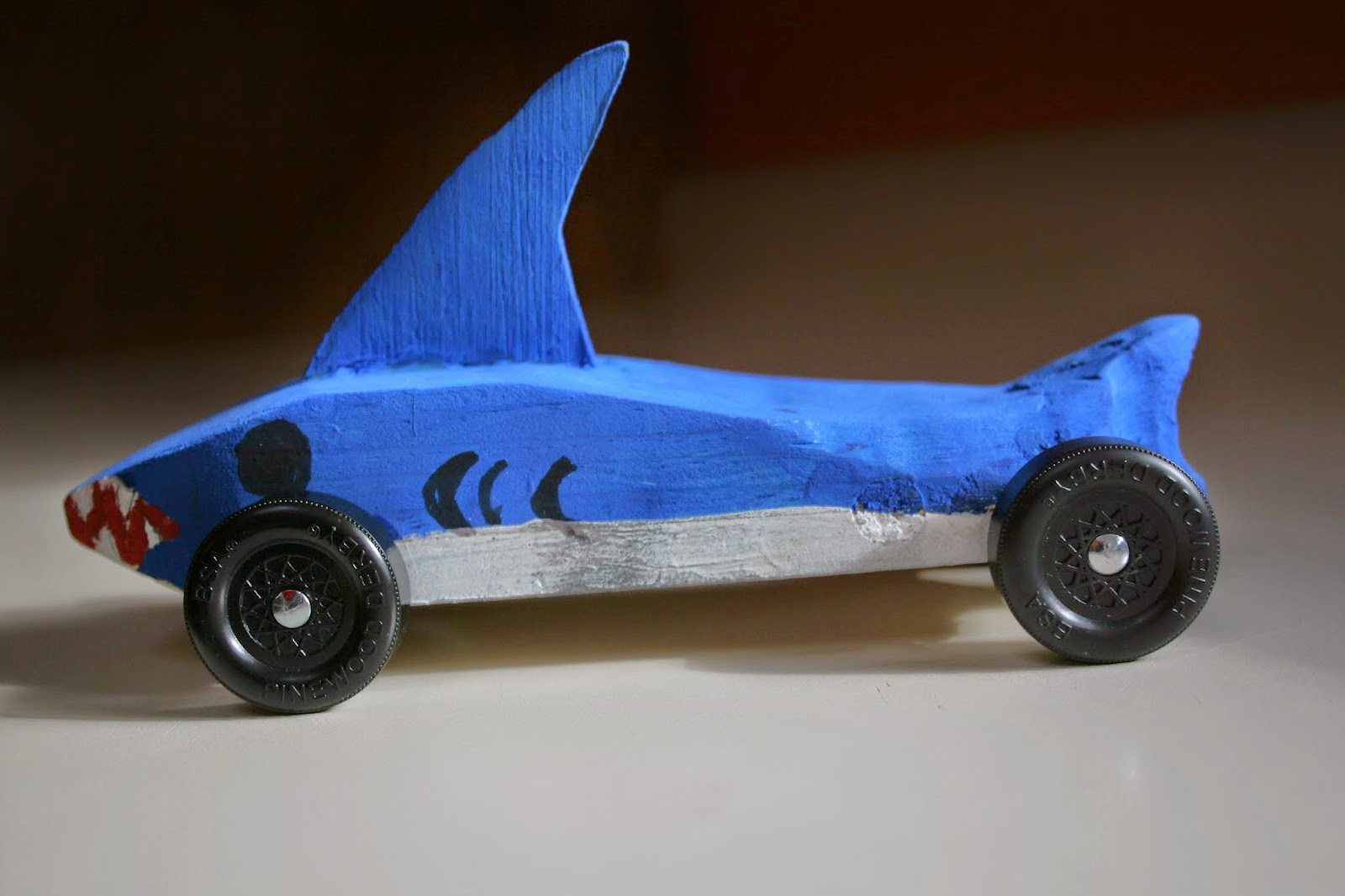 Shark Pinewood Derby Car Unique Connor and Helen Grow Up February 2015