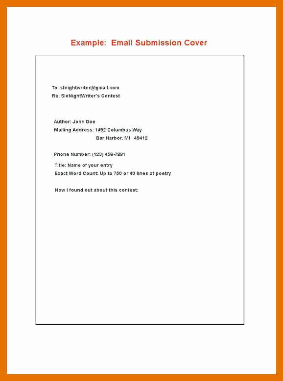 Short Cover Letter Sample New 9 10 Short Cover Letter