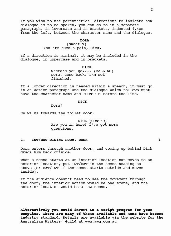 Short Film Script Template Elegant Script format