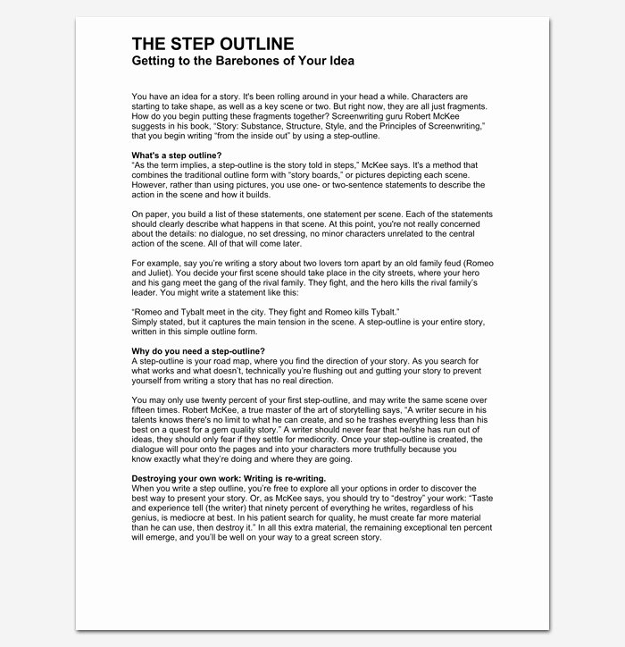 Short Film Script Template Fresh Script Outline Template 12 Examples for Word & Pdf format