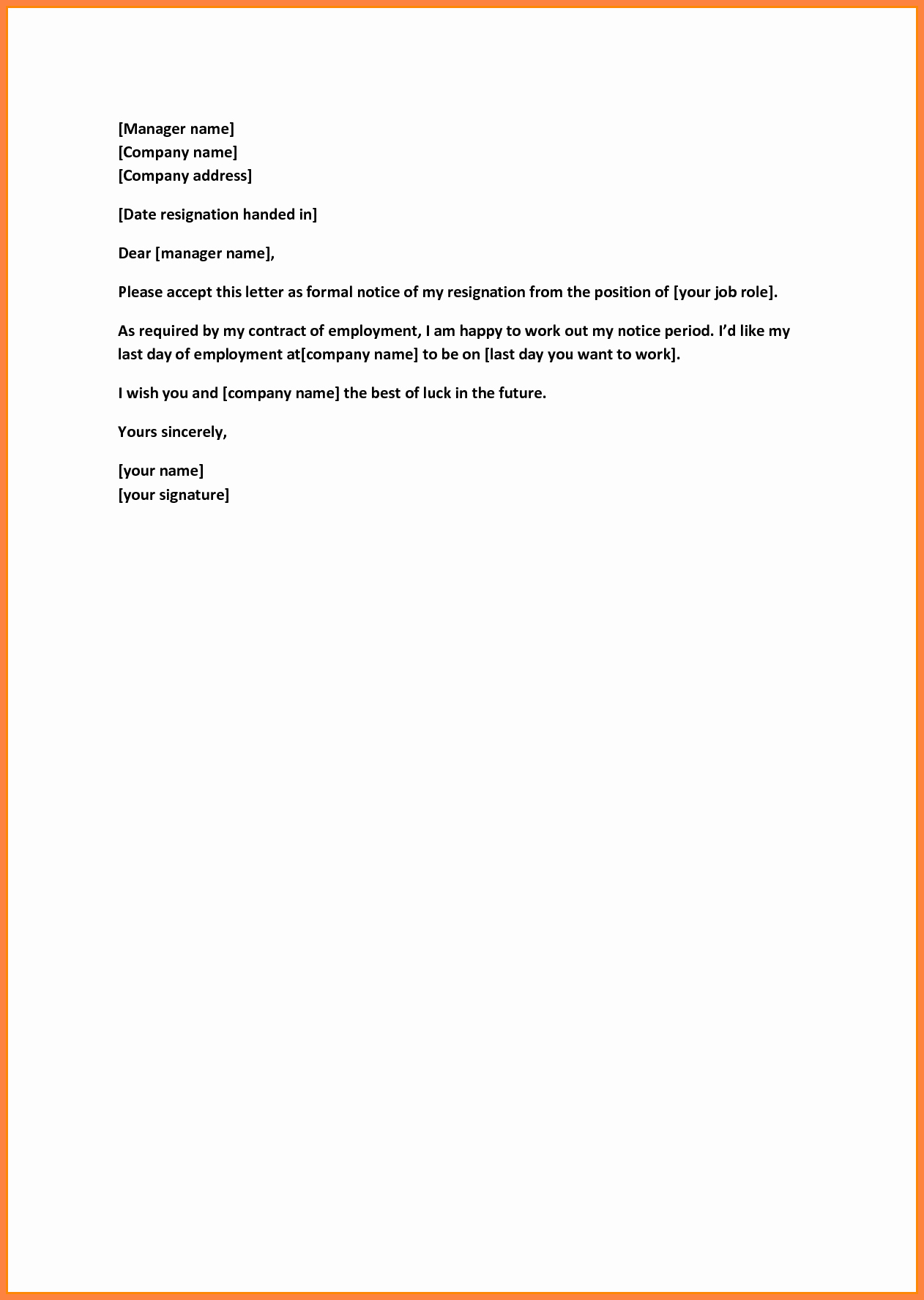 Short Notice Resignation Letter Inspirational 5 Sample Letter Of Resignation Short Notice