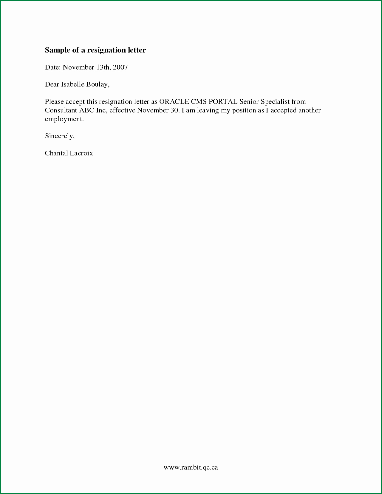 Short Notice Resignation Letter Inspirational New Simple Resignation Letter Sample Download