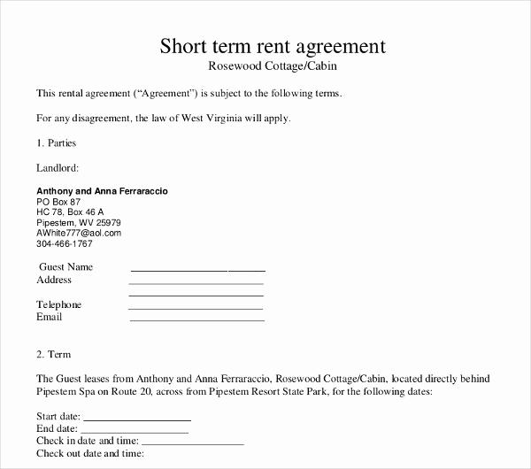 Short Term Rental Agreement Best Of 17 Short Term Rental Agreement Templates Pdf Doc