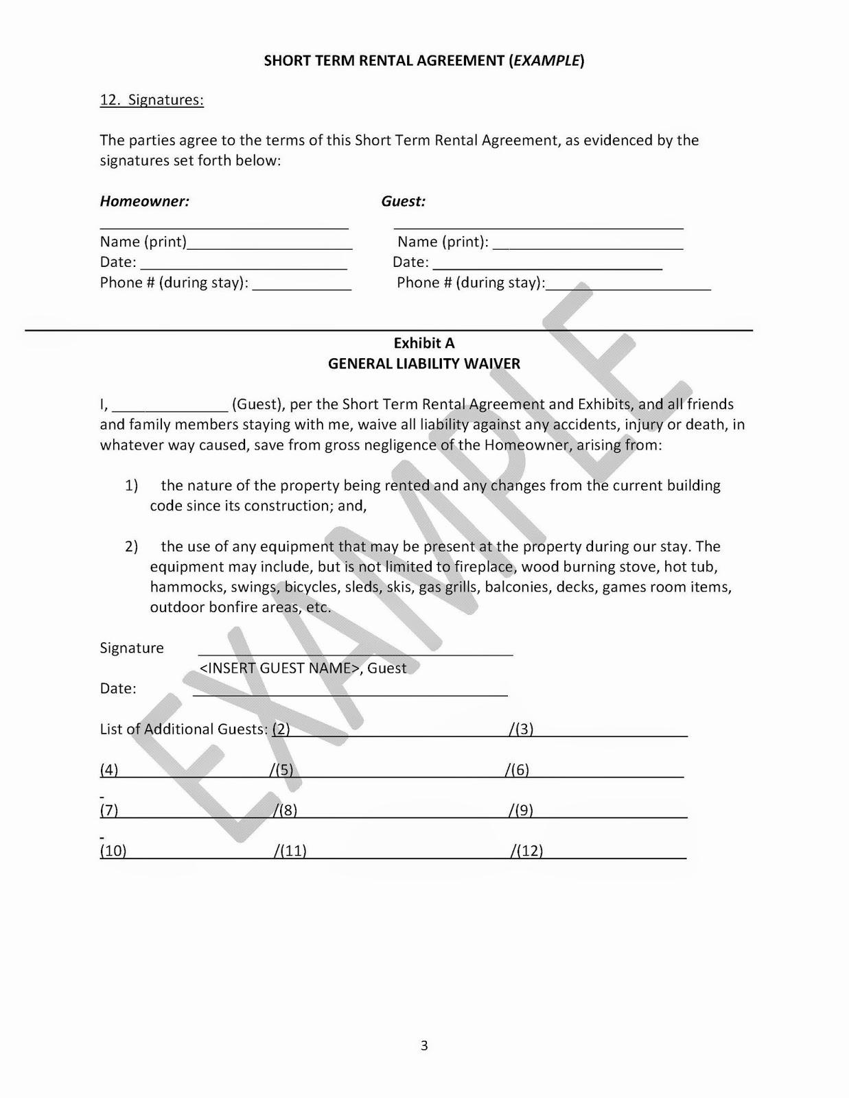 Short Term Rental Agreement Best Of Creekside at Barton Example Short Term Rental Agreement