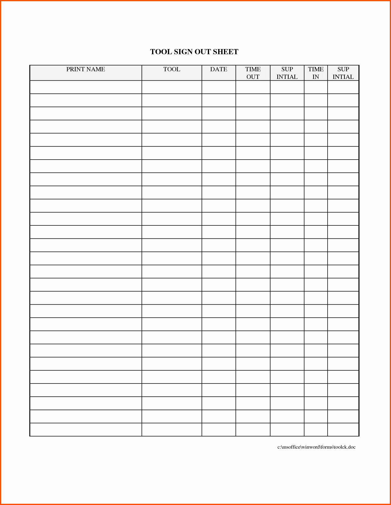 Sign In and Out Sheet Fresh 11 Sign Out Sheet