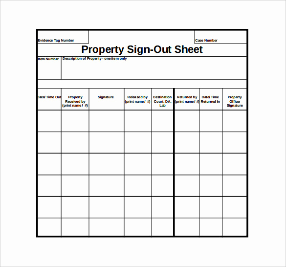Sign In and Out Sheet Unique Sign Out Sheet Template 14 Free Word Pdf Documents